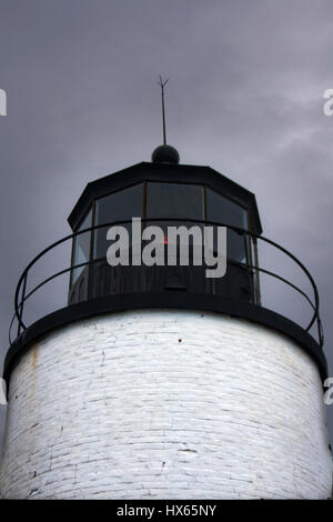 Detail der Lampe der Bass Harbor Leuchtturm in der Nähe von Bar Harbor, Maine. - Stockfoto