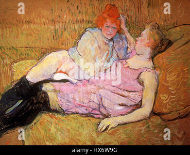 Toulouse Lautrec de Henri das Sofa Sonne - Stockfoto