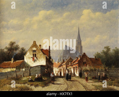 Pieter Gerardus Vertin Stadtansicht - Stockfoto