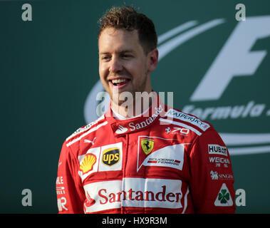 Melbourne, Australien. 26. März 2017.  Formel 1 Rolex Australian Grand Prix, 23. -26.03.2017 Podium in Melbourne: - Stockfoto