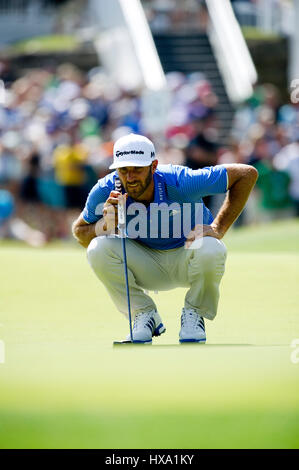 Austin, Texas, USA. 26. März 2017. Dustin Johnson in Aktion bei der World Golf Championships Dell Technologien Championship - Stockfoto