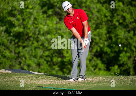 Austin, Texas, USA. 26. März 2017. Jon Rahm in Aktion bei der World Golf Championships Dell Technologien Championship - Stockfoto