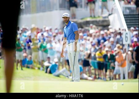 Austin, Texas, USA. 26. März 2017. Dustin Johnson in Aktion bei der World Golf Championships Dell Technologien Championship - Stockfoto