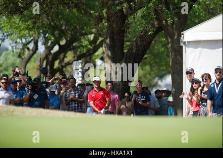 Austin, Texas, USA. 26. März 2017. Jon Rahm in Aktion bei der World Golf Championships Dell Technologien Championship - Stockfoto