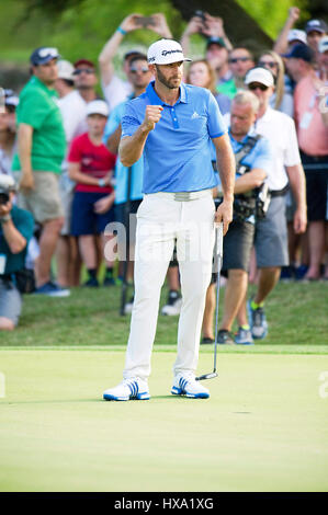 Austin, Texas, USA. 26. März 2017. Dustin Johnson holt sich den Sieg bei der World Golf Championships Dell Technologien - Stockfoto