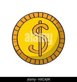 Geld Münze Symbol - Stockfoto