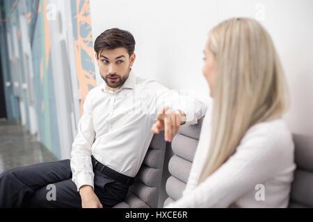 Menschen warten auf Job-Interview-Konzept - Stockfoto