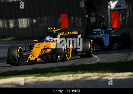 Albert Park, Melbourne, Australien. 26. März 2017. Jolyon Palmer (GBR) #30 von Renault Sport F1-Team bei der 2017 - Stockfoto