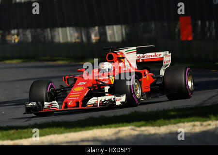 Albert Park, Melbourne, Australien. 26. März 2017. Sebastian Vettel (DEU) #5 aus der Scuderia Ferrari Team bei der - Stockfoto