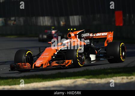 Albert Park, Melbourne, Australien. 26. März 2017. Stoffell Vandoorne (BEL) #2 aus dem McLaren-Honda Formel 1-Team - Stockfoto