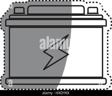 Batterie Auto isoliert - Stockfoto