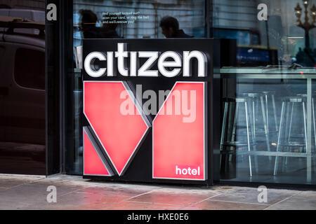 Bürger Hotel logo Zeichen außen London - Stockfoto