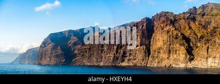 Acantilado de Los Gigantes, Klippen, Steilküste Los Gigantes, Teneriffa, Kanarische Inseln, Spanien - Stockfoto
