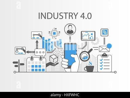 industrie 40 vektor illustration hintergrund als beispiel fr das internet der dinge technologie stockfoto - Industrie 40 Beispiele