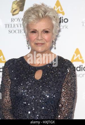21. März 2017 - Julie Walters Teilnahme an Royal Television Society Awards 2017, Grosvenor House Hotel in London, - Stockfoto