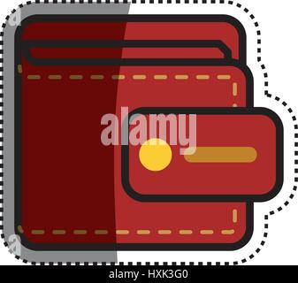 Geld Brieftasche accesorie - Stockfoto