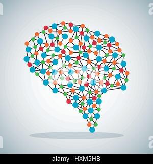 menschlichen Gehirns Wissenschaft Bild - Stockfoto