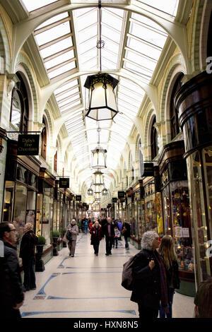 Royal Arcade Norwich Großbritannien - Stockfoto