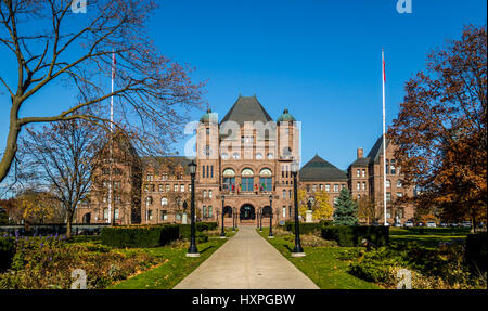 Legislativversammlung von Ontario liegt in Queens Park - Toronto, Ontario, Kanada - Stockfoto