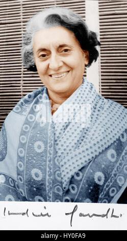Indira Gandhi, ehemaliger Premierminister von Indien - Stockfoto