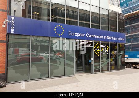 Dublin Road, Belfast 30. März 2017.  Europäische Kommission für Gebäude, Nord Irland in Belfast - Stockfoto