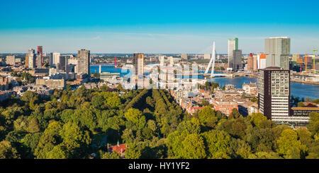 Blick vom Turm der Euromast, Rotterdam, Niederlande - Stockfoto