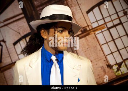 Amsterdam, Niederlande - März 2017: Wachsfigur von Michael Jackson in Madame Tussauds Wachsfigurenkabinett in Amsterdam, - Stockfoto