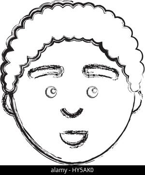 Figur Mann mit Gesichtsausdruck design - Stockfoto