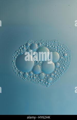 Abstrakte Gruppe von Zellen im Mikroskop Ansicht. Mikroorganismus-Welt - Stockfoto