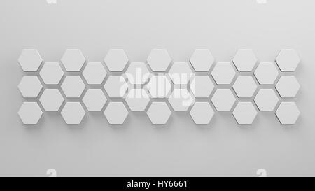 abstrakte 3D-Illustration Sechsecke Netzwerk und Antenne Stockfoto ...