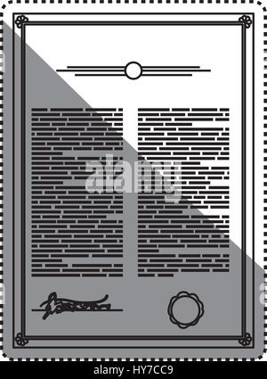 Testament Dokument offizielle Erbe Vektorgrafik-Symbol - Stockfoto