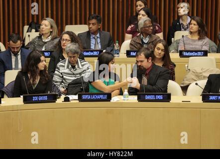 Vereinten Nationen, New York, USA, 31. März 2017 - Sofia Lachapelle zusammen mit Hunderten von Gästen teilgenommen - Stockfoto