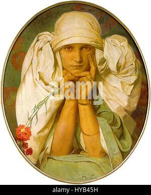 Alfons Mucha - Stockfoto