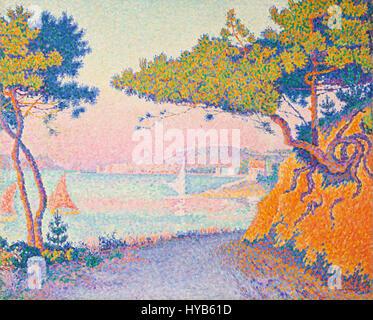 Golfe Juan von Paul Signac (1863 1935) IMG 7171 - Stockfoto