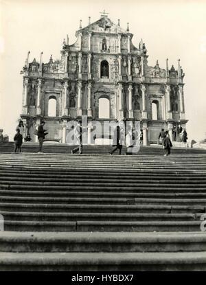 Fassade-Ruinen von St. Paul, Macau, China - Stockfoto