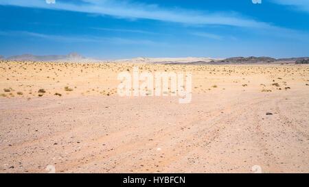 Reisen Sie nach Nahost Land Jordanien - Wüste Wadi Rum in sonnigen Wintertag - Stockfoto
