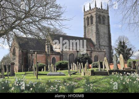 Geasley Kirche, Nottinghamshire. DH Lawrence und seine Schriften zugeordnet. - Stockfoto