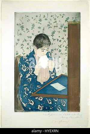 Mary Cassatt den Brief - Stockfoto