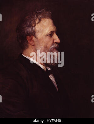 Robert Browning von George Frederic Watts - Stockfoto
