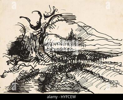 Wilhelm Morgner Landschaftsstudie - Stockfoto