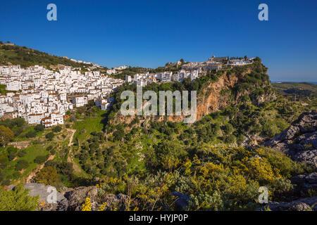 Weiße Dorf Casares, Malaga Provinz Costa del Sol Andalusien Südspanien, Europa - Stockfoto