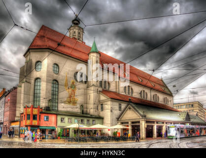 St. Moritz-Kirche in Augsburg, Deutschland - Stockfoto