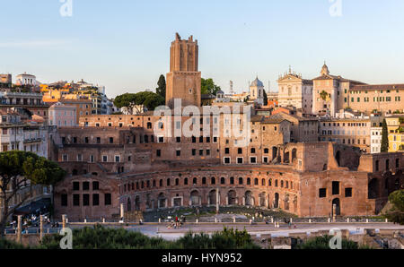 Forum und Markt von Trajan in Rom, Italien - Stockfoto