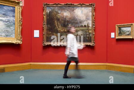 Edinburgh, UK. 6. April 2017. Die Scottish National Gallery beherbergt eine der besten britischen Arts Meisterwerke, - Stockfoto
