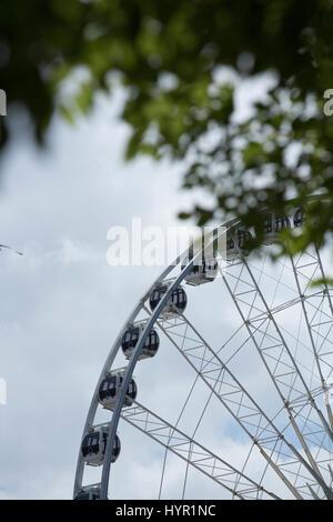 Das Rad der Liverpool Keel Wharf, Liverpool, Merseyside, UK durch freij Räder betrieben - 11. Juni 2014 - Stockfoto