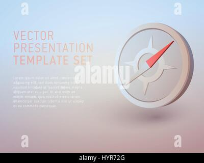 Vektor 3d Business-Thema-Präsentation-Vorlage festgelegt - Stockfoto