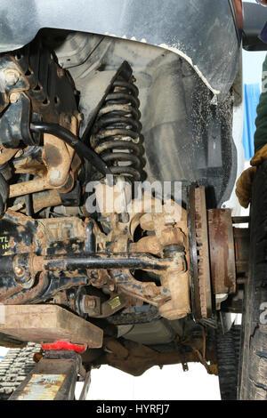 Achse, Aufhängung und Rad Nabeneinheit, Ford Transit - Stockfoto