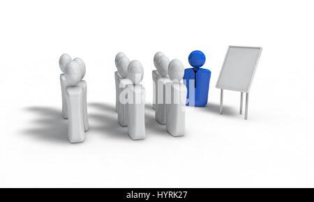 Hintergrund der Teamarbeit Konzept, isoliert 3d Render-arbeiten - Stockfoto