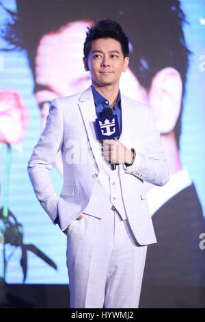 Shanghai, China. 26. April 2017. Jimmy Lin besucht Royal Caribbean International Cruise Förderung Konferenz in Shanghai, - Stockfoto
