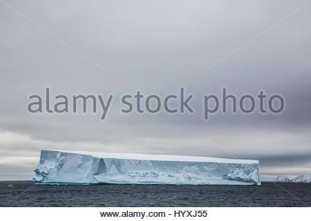 Eine tabellarische Eisberg in der Antarktis. - Stockfoto